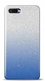 Oppo RX17 Neo Simli Mavi Silikon Kılıf