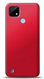 Realme C21 Kırmızı Mat Silikon Kılıf