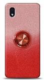 Samsung Galaxy A01 Core Simli Yüzüklü Kırmızı Silikon Kılıf