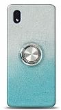 Samsung Galaxy A01 Core Simli Yüzüklü Turkuaz Silikon Kılıf