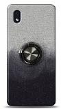 Samsung Galaxy A01 Core Simli Yüzüklü Siyah Silikon Kılıf