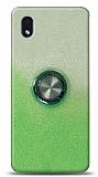 Samsung Galaxy A01 Core Simli Yüzüklü Yeşil Silikon Kılıf