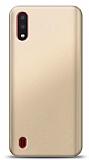 Samsung Galaxy A01 Gold Mat Silikon Kılıf