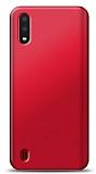 Samsung Galaxy A01 Kırmızı Mat Silikon Kılıf
