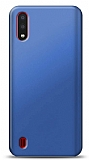 Samsung Galaxy A01 Lacivert Mat Silikon Kılıf