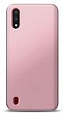 Samsung Galaxy A01 Rose Gold Mat Silikon Kılıf