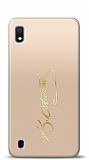 Samsung Galaxy A10 Gold Atatürk İmza Kılıf