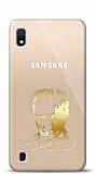 Samsung Galaxy A10 Gold Atatürk Silüet Kılıf