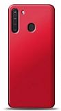 Samsung Galaxy A21 Kırmızı Mat Silikon Kılıf