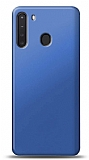Samsung Galaxy A21 Lacivert Mat Silikon Kılıf