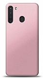 Samsung Galaxy A21 Rose Gold Mat Silikon Kılıf