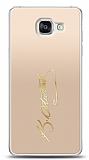 Samsung Galaxy A5 2016 Gold Atatürk İmza Kılıf