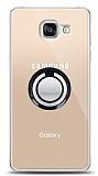 Samsung Galaxy A5 2016 Siyah Tutuculu Şeffaf Kılıf