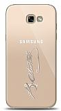 Samsung Galaxy A5 2017 Silver Atatürk İmza Kılıf