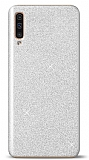 Samsung Galaxy A50 Simli Silver Silikon Kılıf