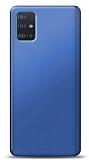 Samsung Galaxy A51 Lacivert Mat Silikon Kılıf