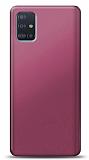 Samsung Galaxy A51 Mürdüm Mat Silikon Kılıf