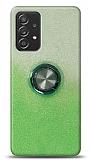 Samsung Galaxy A52 Simli Yüzüklü Yeşil Silikon Kılıf