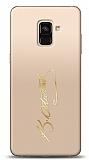 Samsung Galaxy A6 2018 Gold Atatürk İmza Kılıf