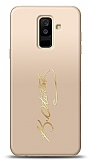 Samsung Galaxy A6 Plus 2018 Gold Atatürk İmza Kılıf
