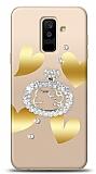 Samsung Galaxy A6 Plus 2018 Lovely Kitty Taşlı Kılıf