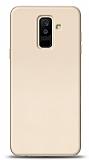 Samsung Galaxy A6 Plus 2018 Tam Kenar Koruma Gold Rubber Kılıf