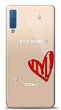 Samsung Galaxy A7 2018 3 Taş Love Kılıf