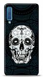 Samsung Galaxy A7 2018 Black Skull Kılıf