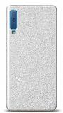 Samsung Galaxy A7 2018 Simli Silver Silikon Kılıf