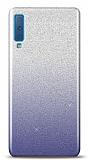 Samsung Galaxy A7 2018 Simli Siyah Silikon Kılıf