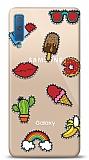 Samsung Galaxy A7 2018 Stickers Resimli Kılıf