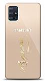 Samsung Galaxy A71 Gold Atatürk İmza Kılıf