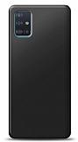 Samsung Galaxy A71 Siyah Mat Silikon Kılıf