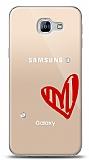 Samsung Galaxy A8 2016 3 Taş Love Kılıf