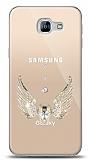 Samsung Galaxy A8 2016 Angel Death Taşlı Kılıf