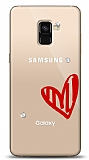 Samsung Galaxy A8 2018 3 Taş Love Kılıf