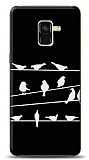 Samsung Galaxy A8 2018 Birds Black Kılıf