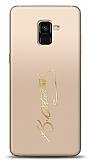 Samsung Galaxy A8 2018 Gold Atatürk İmza Kılıf