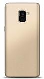 Samsung Galaxy A8 2018 Gold Mat Silikon Kılıf