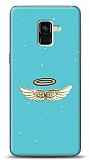 Samsung Galaxy A8 Plus 2018 Blue Angel Taşlı Resimli Kılıf