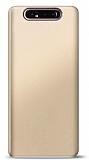 Samsung Galaxy A80 Gold Mat Silikon Kılıf