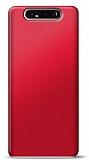Samsung Galaxy A80 Kırmızı Mat Silikon Kılıf