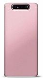 Samsung Galaxy A80 Rose Gold Mat Silikon Kılıf