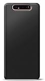 Samsung Galaxy A80 Siyah Mat Silikon Kılıf
