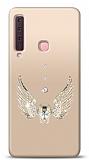 Samsung Galaxy A9 2018 Angel Death Taşlı Kılıf