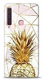 Samsung Galaxy A9 2018 Gold Pineapple 2 Resimli Kılıf