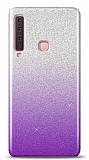 Samsung Galaxy A9 2018 Simli Mor Silikon Kılıf