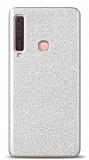 Samsung Galaxy A9 2018 Simli Silver Silikon Kılıf