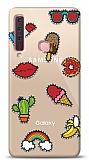 Samsung Galaxy A9 2018 Stickers Resimli Kılıf