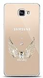 Samsung Galaxy A9 Angel Death Taşlı Kılıf